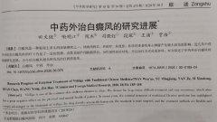 <b>【白癜风科研】论文《中医外治白癜风的研究进展》刊表</b>